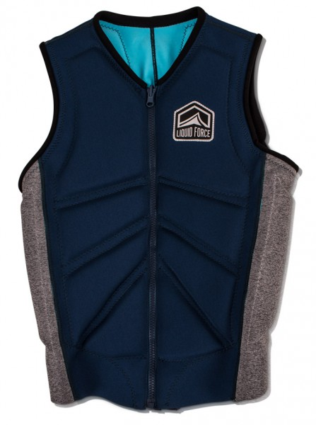 Liquid Force Z-Cardigan Comp Vest navy heather